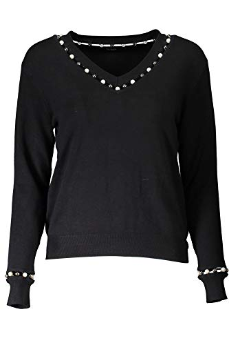 Guess LS Vn Miriam Sweater Jersey, Negro (Jet Black A996 Jblk), Large para Mujer (Ropa)