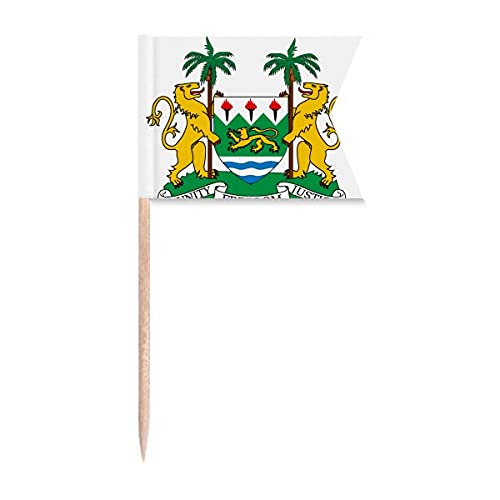 Sierra Leone Afrika Nationalemblem Zahnstocher Flaggen Kennzeichnung für Party Kuchen Lebensmittel Käseplatte