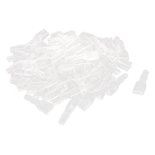 sourcing map 80Stk. 6,3mm durchsichtig Fahne Buchse Isolierhülse Hülse für Crimpanschluss de