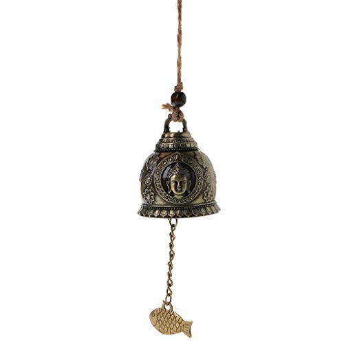 Youngy Lucky Wind Chime, Buddha Statue Dragon Bell Blessing Wind Chime Lucky Home Car Hanging Decor Gifts - 3