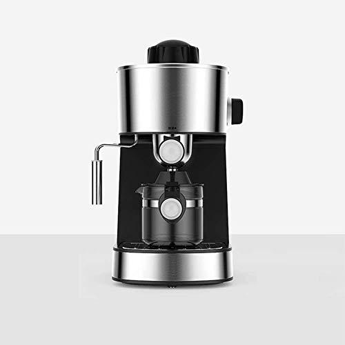 MISLD Cafetera, máquina de café a Las 5 Bares de presión de Ministerio del Interior/termómetro observable / 240 ml / 800 vatios/operación/Espuma de Leche de Vapor - Plata