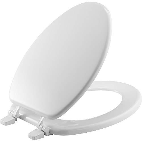 BEMIS 1400TTA 000 Economy Toilet Seat, ELONGATED, Durable Enameled Wood, White