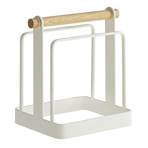 NA/ Soporte de tapa de olla de doble cara de diseño simple para tabla de cortar duradero estante organizador de cocina