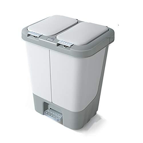 GYJ Keuken dubbele vak stap prullenbak recycler, rechthoekige vuilnisbak met binnenste emmers en scharnierende deksels, pak voor kantoor thuis gebruik
