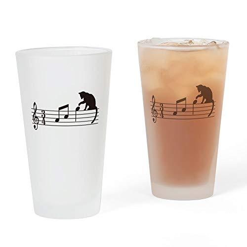 CafePress – Cat Toying avec Note V.1 – Verre à bière, 16 G à boire en verre givré