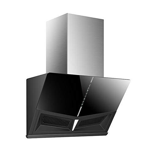 SXYY Touch-Control-Dunstabzugshaube, 90 cm Edelstahl-Schornstein Für Den Haushalt 23 M³ / Min Dunstabzugshaube Automatisches Öffnen Schließen, Wellenhandschalter, Einfaches, Sauberes Design