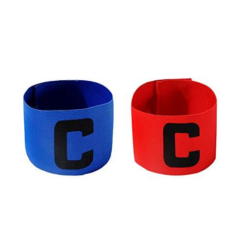 cjixnji Fußball Captain Armband,Junior Fußball Elastic Armbinden für Kinder, Klettverschluss für verstellbare Größe, geeignet für mehrere Sportarten wie Fußball & Rugby von,2 Stück