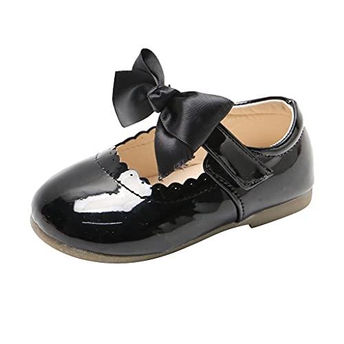Leder Kinderschuhe 20 Mädchen Prinzessin Schuhe Kinder Kleinkind Schuhe Junge Kinder Schuhe Mit Bow-knot Tanzschuhe Weicher Boden Babyschuhe Lauflernschuhe