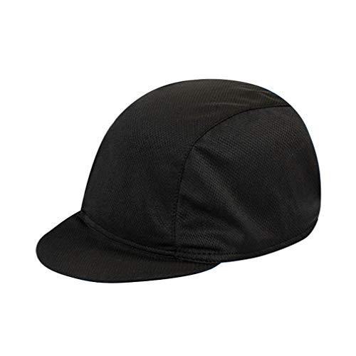 DOCILA Herren Outdoor Radkappe unter Helm Bike Hat Quick Dry Sport Caps Motorrad Sonnenhut -  Schwarz -  MEDIUM