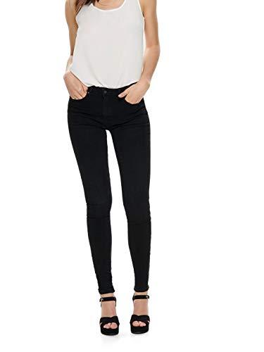 ONLY Damen Onlpaola Hw Sk DNM Azg 132907 Noos Jeans, Black Denim, L/30