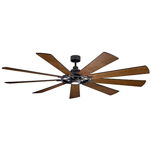 Kichler 300285DBK Gentry XL Ceiling Fan, 1-Light, Distressed Black