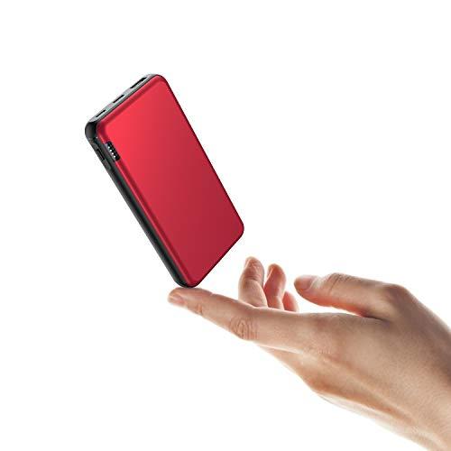 ButcHer Powerbank 20000mAh, Caricatore Portatile con USB C/Micro2 Ingressi, 2.4A Uscite e Indicatore LED, Compatibile con Smartphone,Tablets e Altro-Rosso