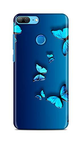 Shengshou Butterfly Design Mobile Back Cover for Huawei Honor 9 Lite Back Case - Blue