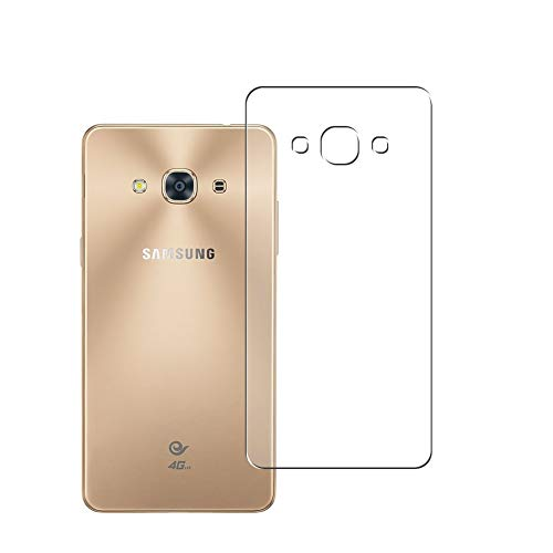 Vaxson 2 Unidades Protector de pantalla Posterior, compatible con Samsung Galaxy J3 Pro 2016 [No Vidrio Templado] TPU Película Protectora Espalda Skin Cover