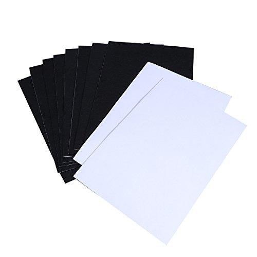 ROSENICE 10 hojas de Papel Kraft de Fieltro Autoadhesivas Multiusos para Hacer Arte y Artesanía (negro)