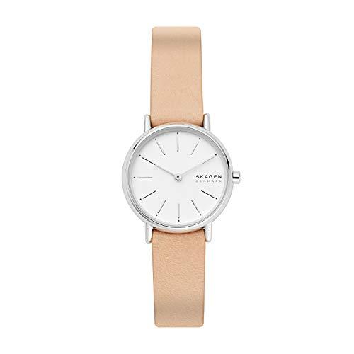 Skagen Damen Analog Quarz Uhr mit Leder Armband SKW2839