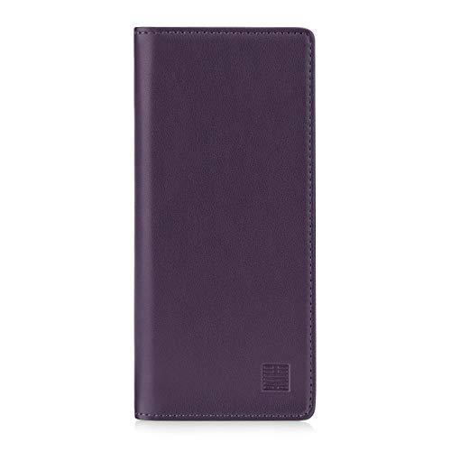 32nd Klassische Series 2.0 - Lederhülle Hülle Cover für Sony Xperia 10 II (2020), Echtleder Hülle Entwurf gemacht Mit Kartensteckplatz, Magnetisch & Standfuß - Aubergine