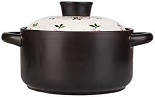 CJTMY Cerámica crisol de la Sopa Olla con Tapa cazuela de Barro Olla a Piedra Pot Gas doméstico Olla de Barro arroz Especial