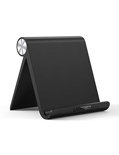 UGREEN タブレットスタンド 在宅勤務 卓上 スマホホルダー iPadスタンド 折りたたみ式 角度調整可能 4-11インチに対応 滑り止めゴム付き iPad Pro,iPhone 11 Pro Max,Xperia,Huawei mediapad,Galaxy等のスマホやタブレットに適用 ABS素材