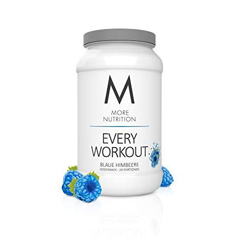 MORE NUTRITION Every Workout (1 x 700 g Pulver) - Fitness Booster mit Creatin und Koffein für mehr Power und Pump im Kraftsport (Blaue Himbeere)