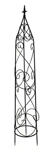 DARO DEKO Metall Rankhilfe Obelisk schwarz 1 Stück - M - 139cm