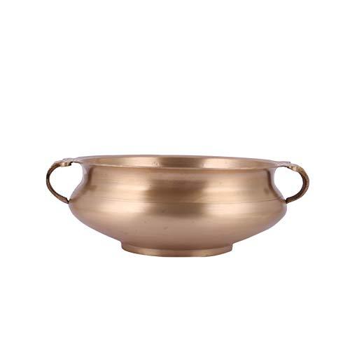 Aatm Urli Wasserschale aus Messing, matt, für Zuhause, Büro, Hotel, Dekoration und Geschenk, Durchmesser 20,3 cm