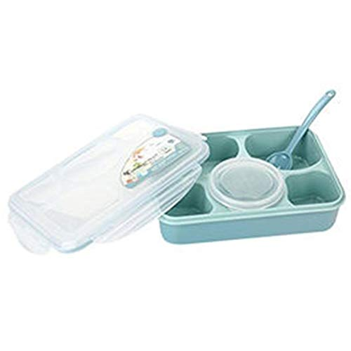 Tianzhiyi Keukengereedschap Lunchbox Bento Box Lekvrije Hermetische Voedseldoos met Herbruikbare Soepkom Voor Kinderen Volwassenen Werkschool (Kleur : Sky-blauw)
