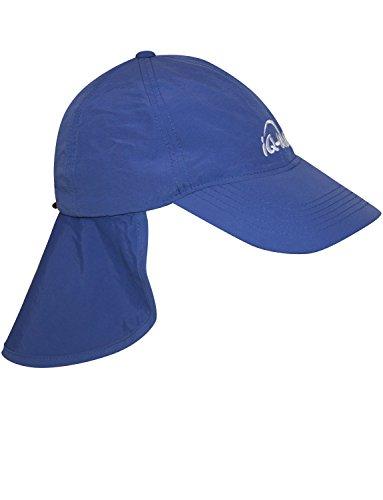 iQ-UV 200 Sonnenschutz Cap mit Nackenschutz Kappe, Navy, 55-61 cm