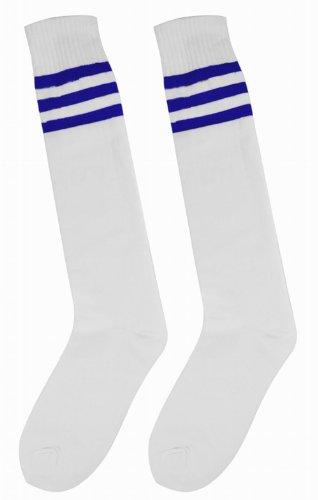 tinxs Soccer Baseball Football Basketball Sport Over Knee Ankle Men Women Socks - with Different Colour Stripe, 7 Colour for Choice!