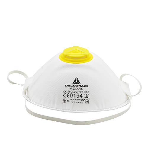 FFP3 Mascarilla con Válvula, Mascarilla Antipolvo Mascarilla con Filtro 99% Máscara de Respiración con Filtro de Carbón Activado Mascarilla de Seguridad Protección (1PCS)