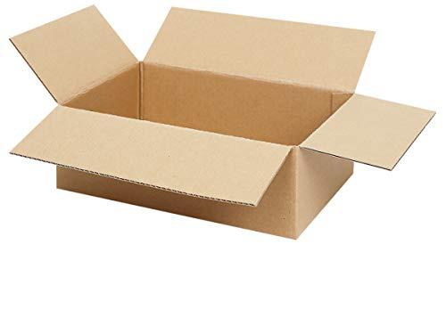 25 Faltkartons 350 x 250 x 100 mm | Kartons geeignet für Versand als DHL Päckchen S, DPD, GLS oder Hermes | wählbar 25-1000 Versandkartons