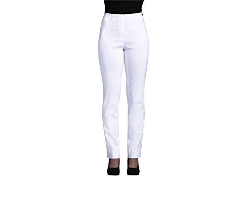 Robell Damen Slim Arbeitshose-Stretchhose, Wollweiß, Gr.- 36