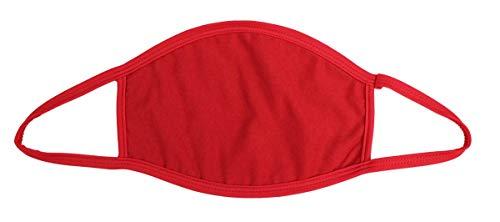 S.B.J - Sportland Mund-Nase-Maske Baumwolle rot | Gesichtsmaske