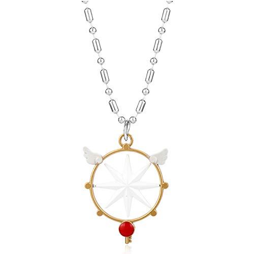WYFLL Tarjetero Collar Llave Tarjeta Mágica Joyas Collar Collar De Mujer Accesorios Personalidad Lindo Tendencia Accesorios Decoración
