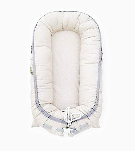 Organic Newborn Lounger | WaterResistant Baby Nest | Portable Bed for Infants amp Toddlers 012 Month | for Girls and Boys | Use as Bassinet Play Pillow Mobile Crib Beige