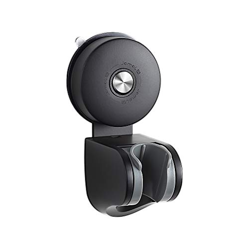 JOMOLA Shower Head Holder Suction Cup Handheld Shower Bracket Removable Bidet Sprayer Holder, Stainless Steel, 4 Mode Angle Adjustable, Matte Black