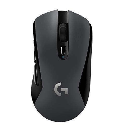 Logitech G603 LIGHTSPEED kabellose Gaming-Maus mit HERO 12K DPI Sensor, Wireless Bluetooth und 2.4GHz Verbindung mit Unifying USB-Empfänger, 6 programmierbare Tasten, PC/Mac - Grau