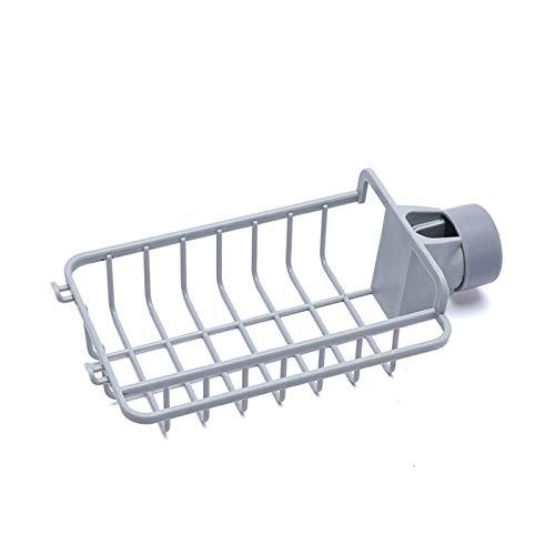 LRHYG Bathroom Shower Shelf Sponge Rag Sink Drain Rack with Hook Faucet Rack Bathroom Shelves Bathroom Hardware Bathroom Fixture (Color : Gray)