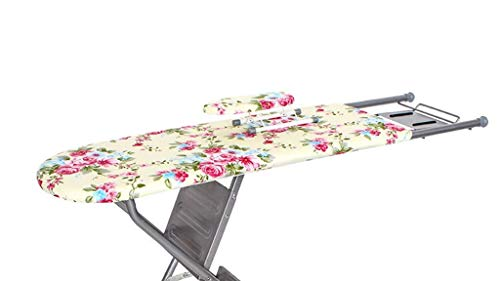 MIEMIE Multifunktionale Klappleiter Dual Purpose Bügelbrett mit Blumendruck Kleine Wohnung Bekleidungsgeschäft Hoteltisch
