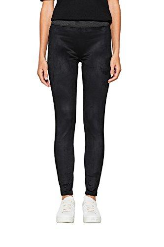 ESPRIT Damen 097EE1B033 Leggings, Schwarz (Black 001), 40 (Herstellergröße: L)