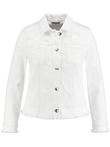 Samoon Jacke Jeans cremeweiss Größe 46