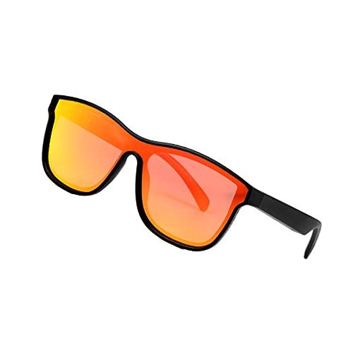 perfeclan Bluetooth 5.0 Gafas de audio Manos libres IP5 Gafas de sol impermeables Música compatible con IOS Android - Oro