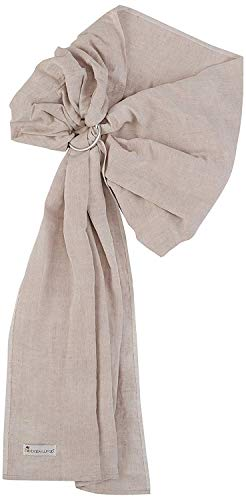Ring Sling Baby Carrier - Extra Soft Bamboo and Linen Beautiful Fabric That is Designed to be Extra Soft, Rugged and Floppy. Hip Baby Wrap (Flax Chambray)