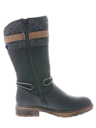 Rieker Tex Damen Stiefel 94778, Schwarz - 4