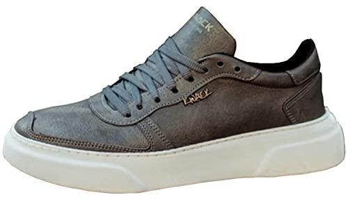 Knack 222 - Zapatos para hombre, estilo casual, para uso diario, ligeros, transpirables, para caminar, color gris, gris, 42 2/3 EU