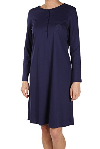 Féraud Damen Nachthemd 3883026, Gr. 50, Blau (Marine 10004)