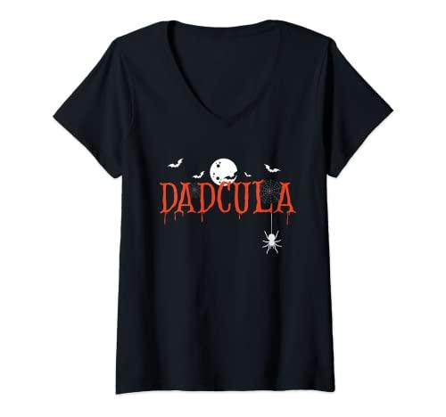 Mujer Dadcula Halloween Pap Drcula Monster Creepy Horror Costume Camiseta Cuello V