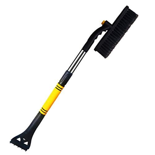 Deliu Pala de Nieve Raspador de Hielo Cepillo de Nieve Removedor de Agua para Coche Auto Frost Parabrisas Amarillo y Negro