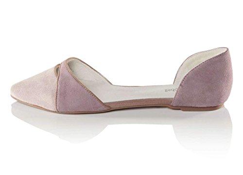 Jeffrey Campbell Designer-Ballerina puder-rosé Größe 39