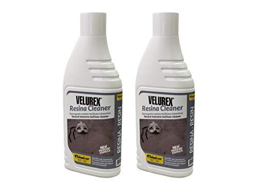 Chimiver - VELUREX RESINA CLEANER | détergent neutre polyvalent et intesif, particulièrement indiqué pour le nettoyage de sols en résine et micro-ciment. 2 bouteilles de 1L